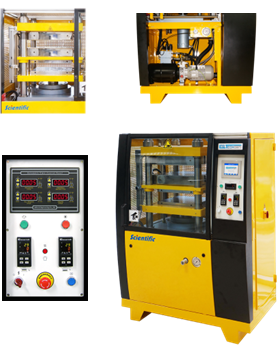 hydraulic press with automatic cooling system