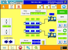 LCD color touch screen for computerized operation